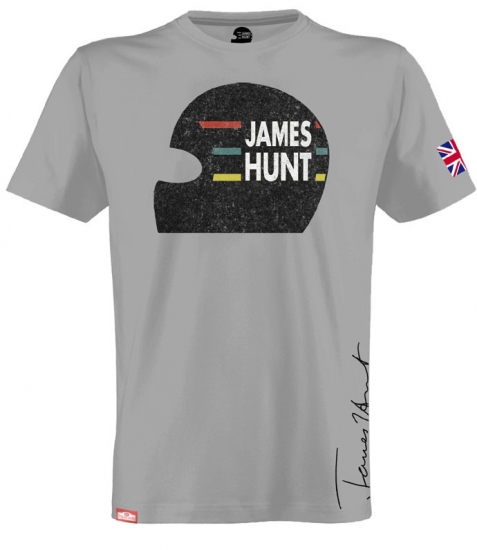 James Hunt Helmet Tee Shirt by Hunziker
