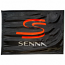 Ayrton Senna SS Black Logo Flag