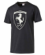 Puma Ferrari Black Big Shield Tee