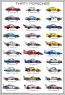 Thirty Porsches Poster