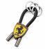 Ferrari Black Shield Rubber Strap Keychain