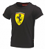 Ferrari Kids Black Shield Tee Shirt