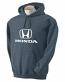 Honda Grey Heather Hooded Sweat Shirt