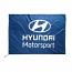 Hyundai Motorsport Team Logo Flag