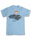 Ford GT40 Gulf Retro Blue Tee Shirt
