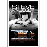Steve McQueen Le Mans Helmet Portait Poster