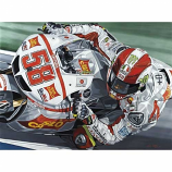 Marco Simoncelli Honda #58 Giclee