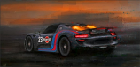 Porsche 918 Afterburns On Canvas Print