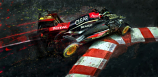 Kimi Raikkonen Lotus Apex Hunter Canvas Print