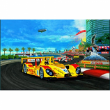 Street Racing ALMS Canvas Print