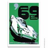 Nicolas Hunziker Porsche 908LH Marken Weltmeister 1969 Poster