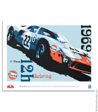Nicolas Hunziker 1969 Sebring 12hr Gulf Poster