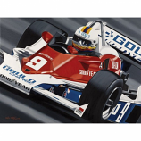 Rick Mears Indy Signed Lithograph
