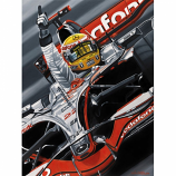 Lewis Hamilton McLaren Flying High Lithograph