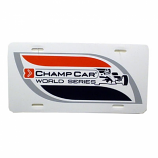 Champ Car Plastic License Plate