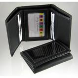 Carbon Fiber Wallet Tri-Fold Black