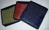 Carbon Fiber Wallet Bi-Fold Yellow