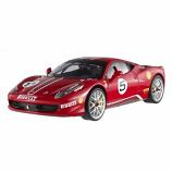 Ferrari 458 Italia White Challenge Hotwheels Elite 1/18th Diecast Model