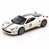 Ferrari 458 Italia Challenge White #3 Hotwheels Elite 1:43rd Diecast