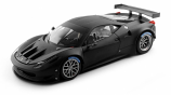 Ferrari 458 Italia GT2 Matte Black Hotwheels Elite 1:18th Diecast Model
