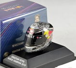 Sebastian Vettel Red Bull Racing 2010 Abu Dhabi Helmet 1:8th
