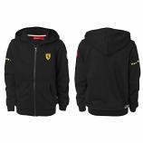 Ferrari Kids Black Hooded Sweat Shirt