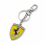 Ferrari Shield Logo Metal Keychain