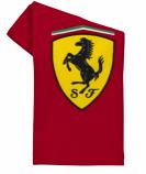 Ferrari Shield Red Fleece Blanket