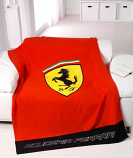 Ferrari Red Shield Fleece Blanket