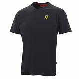 Ferrari Black Shield Vneck Tee Shirt