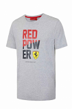 Ferrari Grey Red Power Tee Shirt