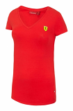 Ferrari Red Ladies V-Neck Tee Shirt
