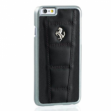 Ferrari 458 iPhone 6/6S Black Leather Case