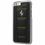 Ferrari 458 Black-Yellow Stitch iPhone 6/6S