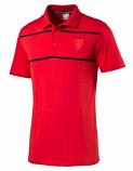 Puma Ferrari Red Stripe Polo Shirt