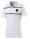 Puma Ferrari White Stripe Polo Shirt