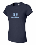 Honda Ladies Navy Logo Tee Shirt