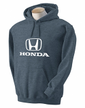 Honda Grey Heather Hooded Sweat Shirt
