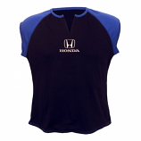 Honda Ladies Black Slit Tee Shirt