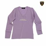 Lamborghini Ladies Lilac VNeck Tee Shirt