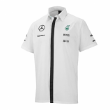 Mercedes AMG Petronas White Team Crew Shirt 2015