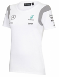 Mercedes AMG F1 Ladies White Tee Shirt