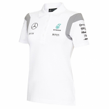 Mercedes AMG F1 Ladies White Team Polo