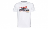 Porsche White Car Tee Shirt