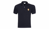 Porsche Crest Black Polo Shirt