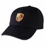 Porsche Crest Black Logo Hat