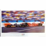 Newman Haas 1996 Team Lithograph Artist Signed