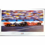 Newman Haas 1996 Team Lithograph Driver Signed